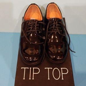 ebb4440d8d2 Tip Top Kids Shoes - Round toed black shiny tux toddler boys sz10